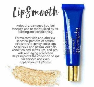 Shows the LipSmooth Product and benefits